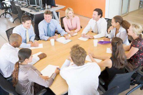 Group of people in office meeting